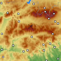 Nearby Forecast Locations - Low Tatras - Map