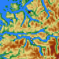 Nearby Forecast Locations - Volda - Map