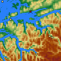 Nearby Forecast Locations - Molde - Map