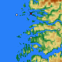 Nearby Forecast Locations - Florø - Map