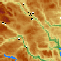 Nearby Forecast Locations - Fagernes - Map