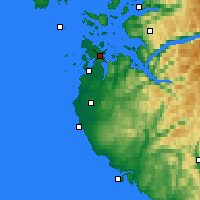 Nearby Forecast Locations - Våland - Map