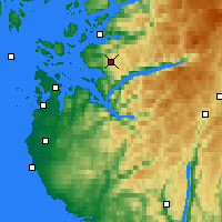 Nearby Forecast Locations - Liarvatn - Map