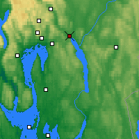 Nearby Forecast Locations - Lillestrøm - Map