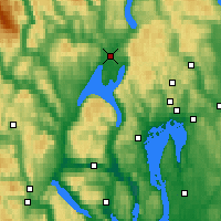 Nearby Forecast Locations - Hønefoss - Map