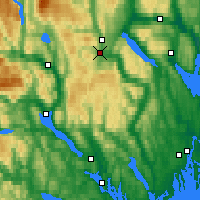 Nearby Forecast Locations - Kongsberg Brannstasjon - Map
