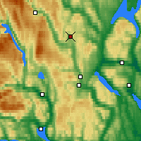 Nearby Forecast Locations - Lyngdal/Numed. - Map