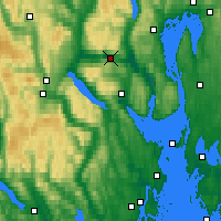 Nearby Forecast Locations - Drammen Berskog - Map