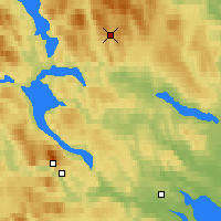 Nearby Forecast Locations - Korsvattnet - Map