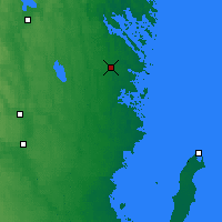 Nearby Forecast Locations - Gladhammar - Map