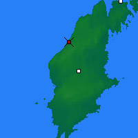 Nearby Forecast Locations - Visby - Map