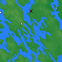 Nearby Forecast Locations - Vaasa Klemettila - Map