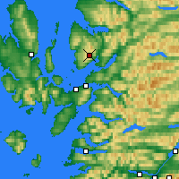 Nearby Forecast Locations - Bealach na Bà - Map