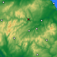 Nearby Forecast Locations - Galashiels - Map