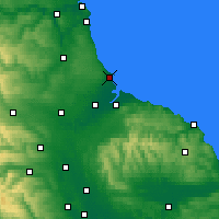 Nearby Forecast Locations - Hartlepool - Map