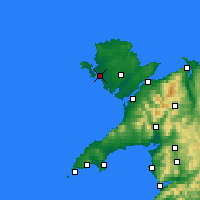 Nearby Forecast Locations - Holyhead - Map