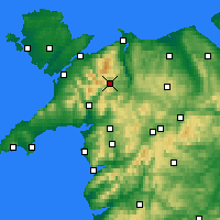 Nearby Forecast Locations - Snowdonia - Map