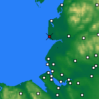 Nearby Forecast Locations - Blackpool - Map