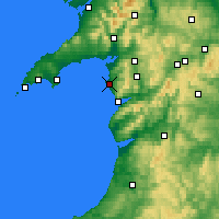 Nearby Forecast Locations - Harlech - Map