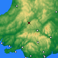 Nearby Forecast Locations - Cambrian Mountains - Map
