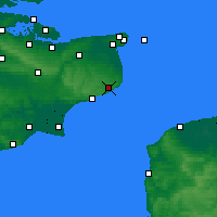 Nearby Forecast Locations - Dover - Map