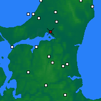 Nearby Forecast Locations - Aalborg - Map