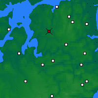 Nearby Forecast Locations - Aalestrup - Map