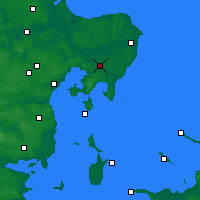 Nearby Forecast Locations - Aarhus - Map