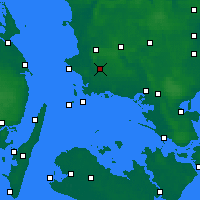 Nearby Forecast Locations - Flakkebjerg - Map