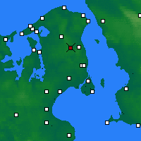 Nearby Forecast Locations - Sjaelsmark - Map
