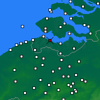 Nearby Forecast Locations - Hoofdplaat - Map