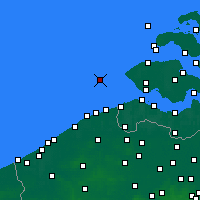 Nearby Forecast Locations - Vlakte van de Raan - Map