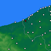 Nearby Forecast Locations - Koksijde - Map