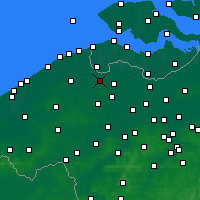 Nearby Forecast Locations - Maldegem - Map