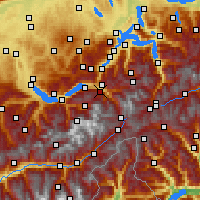 Nearby Forecast Locations - Meiringen - Map