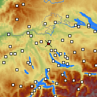 Nearby Forecast Locations - Opfikon - Map