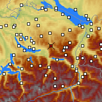 Nearby Forecast Locations - Ebnat-Kappel - Map