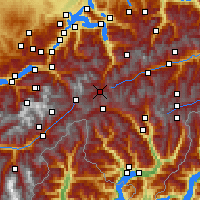 Nearby Forecast Locations - Hospental - Map