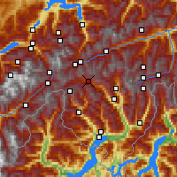 Nearby Forecast Locations - Airolo - Map