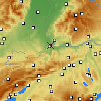 Nearby Forecast Locations - Basel - Map