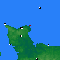 Nearby Forecast Locations - Barfleur - Map