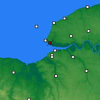 Nearby Forecast Locations - Le Havre - Map