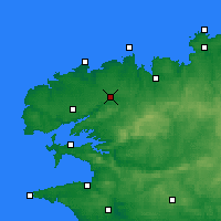 Nearby Forecast Locations - Landivisiau - Map
