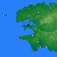 Nearby Forecast Locations - Lanvéoc - Map