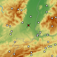 Nearby Forecast Locations - Mulhouse - Map