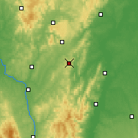 Nearby Forecast Locations - Mont-Saint-Vincent - Map