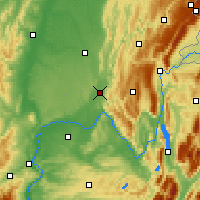 Nearby Forecast Locations - Ambérieu-en-Bugey - Map