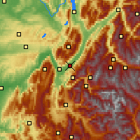 Nearby Forecast Locations - Grenonble Lvd - Map