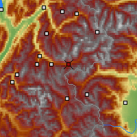 Nearby Forecast Locations - Modane - Map