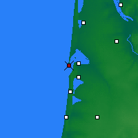 Nearby Forecast Locations - Cap Ferret - Map